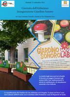 Inaugurazione giardino sonoro di Casa Alzheimer - martedì 21 settembre 2021